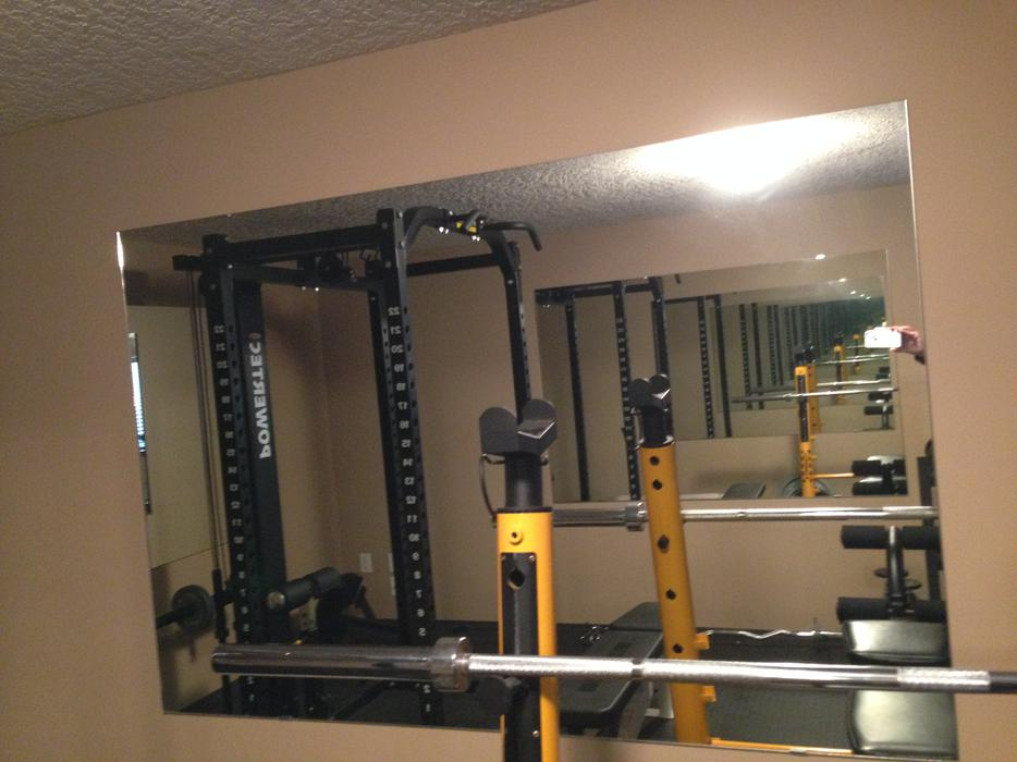Large fitness mirrors west shore langford colwood for Used gym mirrors