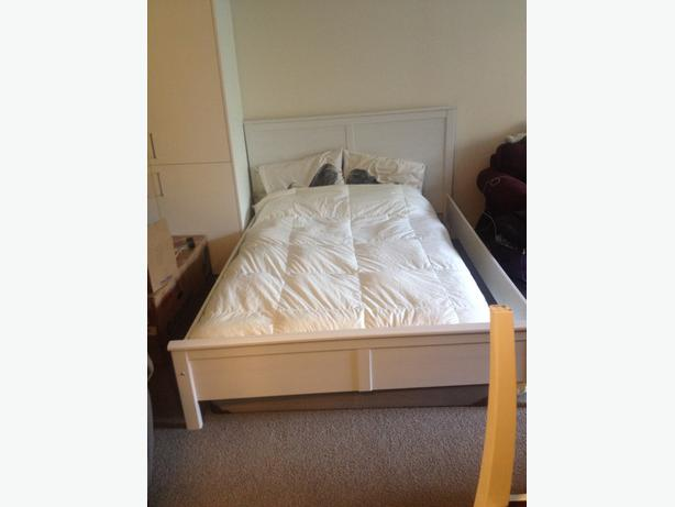 Ikea Bed Frame Queen Size White Victoria City Victoria
