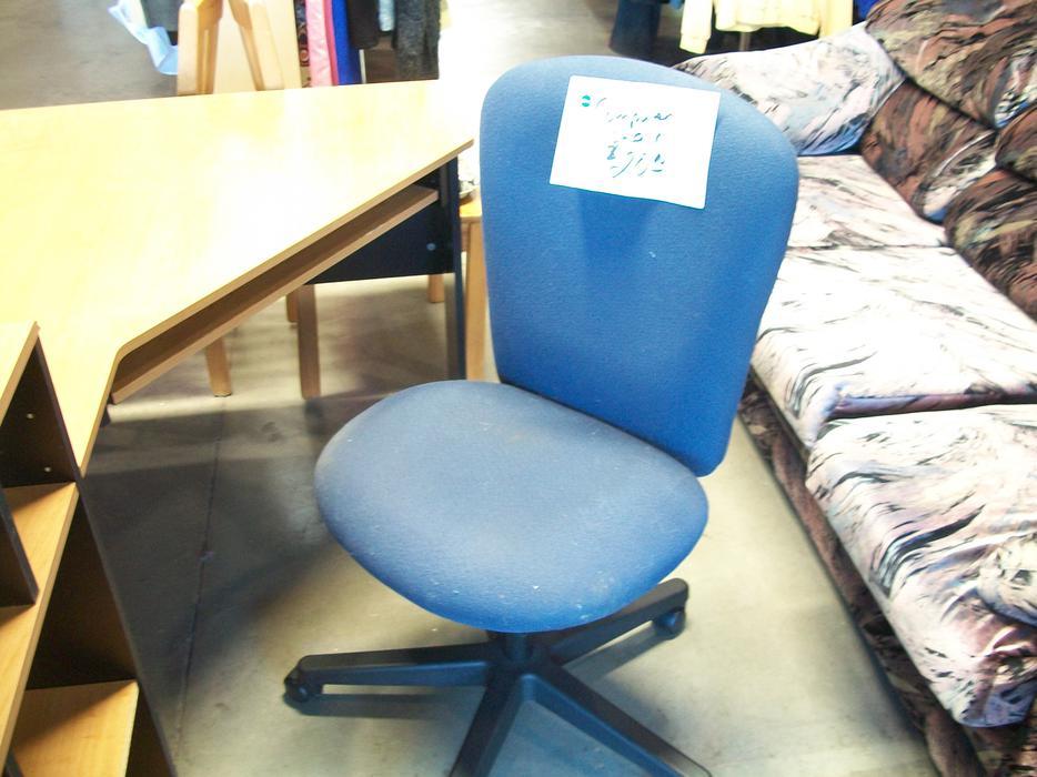 was 20 blue computer chair for sale at the st vincent de paul store on quadra saanich victoria. Black Bedroom Furniture Sets. Home Design Ideas