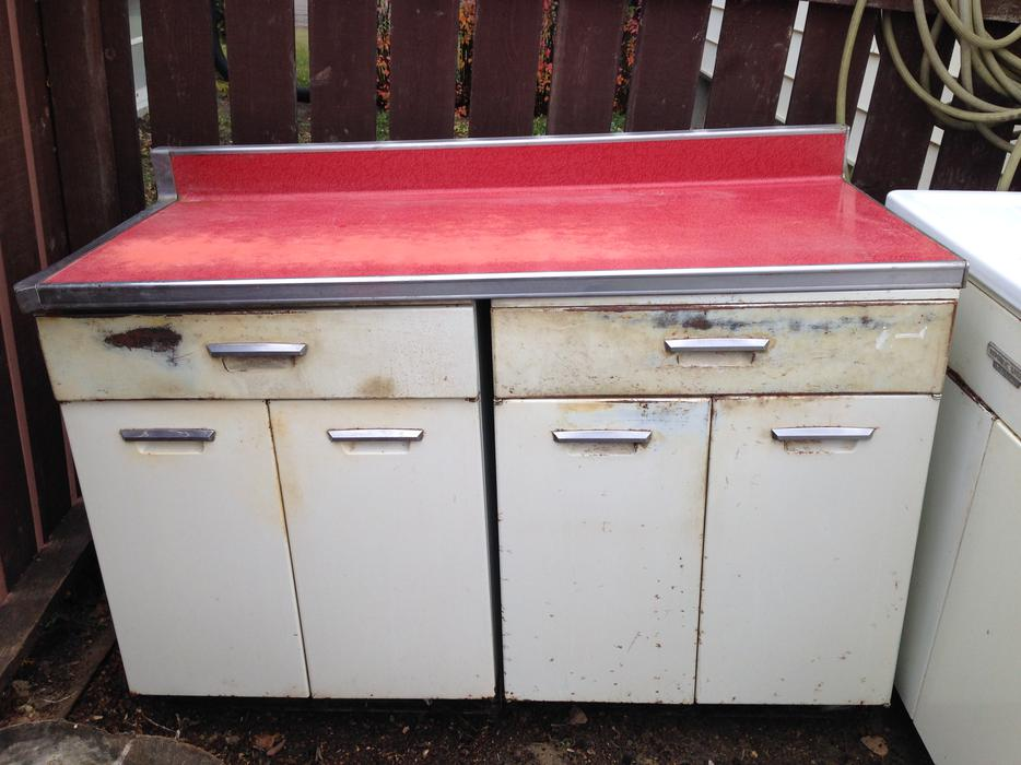 Republic Steel Retro Metal Kitchen Cabinets South Regina ...