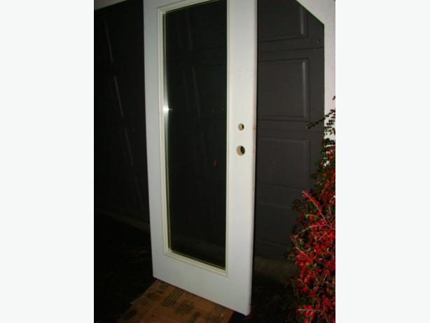 White Metal Clad Exterior Door Campbell River Courtenay Comox