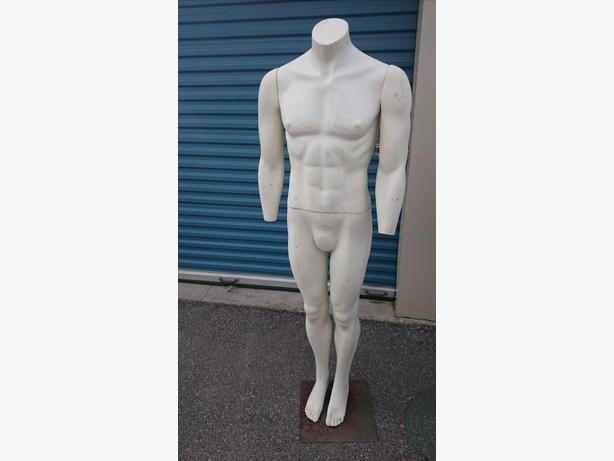 MANNEQUINS - COMPLETE 1MALE & 1 male toroso , USED, FULL SIZE