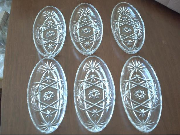 6 Glass Candy Dishes