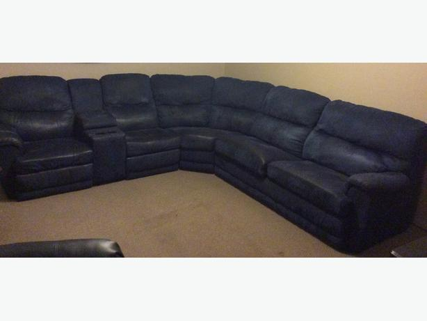 Sectional with hide a bed and two recliners : sectional hide a bed - Sectionals, Sofas & Couches