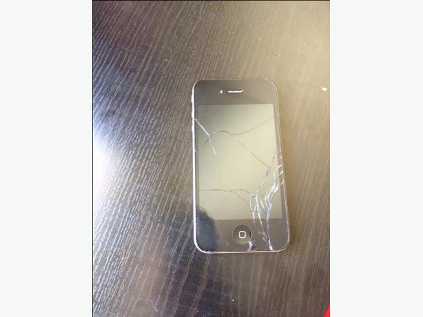 for sale iphone 4 cracked screen