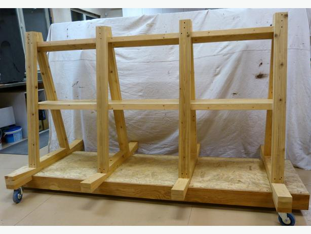 Rolling lumber rack cosmecol for Sheet goods cart