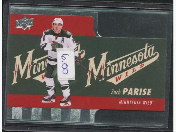 2015-16 Upper Deck Tim Horton's Die Cuts Zach Parise Wild