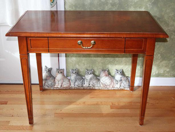 Nicely Made Solid Wood Desk By Fleetwood Fine Furniture Of Toronto