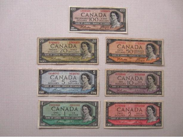 Series of 1954 Canadian Paper Currency