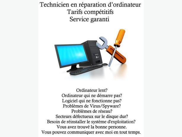 Technicien en réparation d'ordinateur