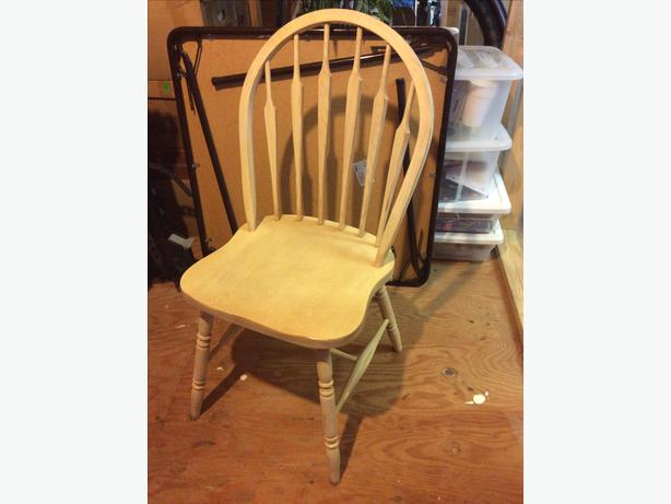 Solid Oak Windsor Chairs ~ Solid oak windsor back wood chairs malahat including