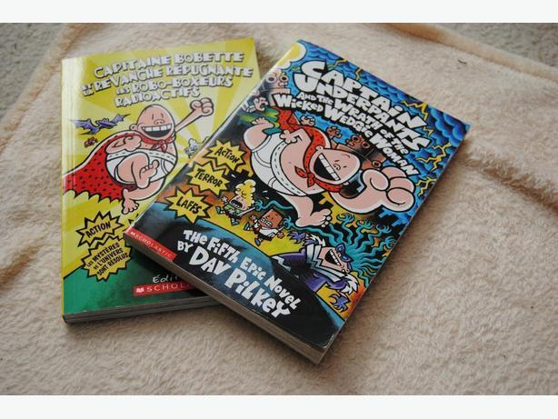 2 Captain Underpants books