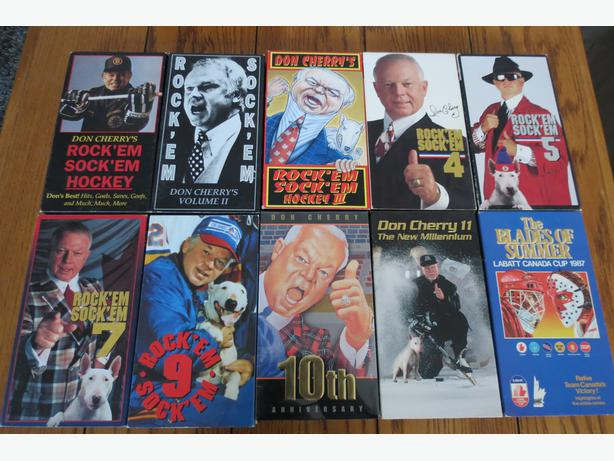 Don Cherry Rock em Sock em, Hockey Fights, Sports Bloopers, 20 VHS