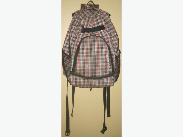 plaid backpack