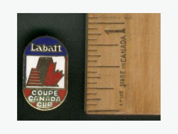 Labatt's Canada Cup Lapel Pin White