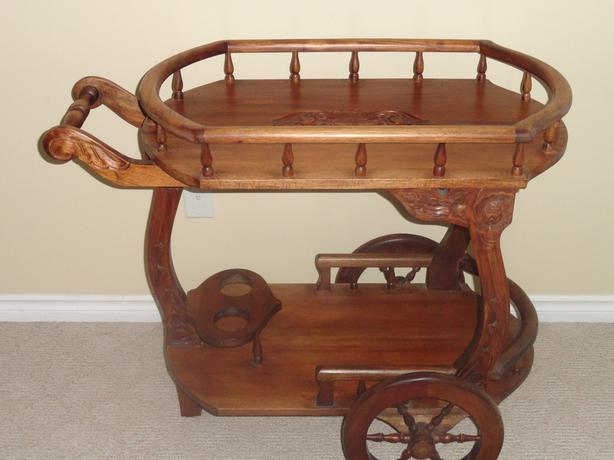 Teak Tea Wagon