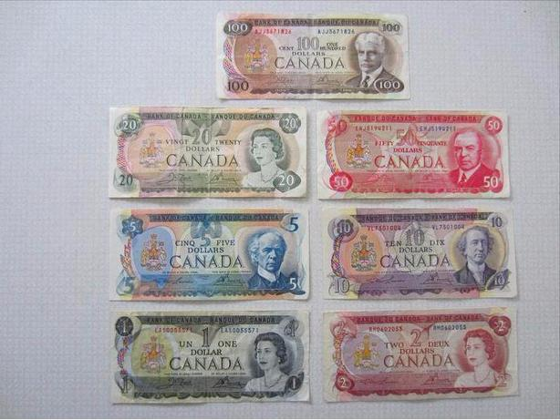 Series of Canadian Paper Curreny