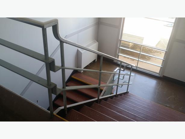 Handrails aluminum  top from Oak Bay Junior high school