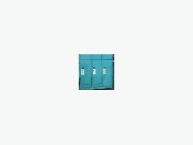 Newish School Lockers 5 feet high 4 wide