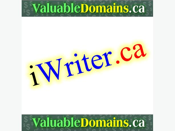 iWriter.ca -  --> Domain For $ALE