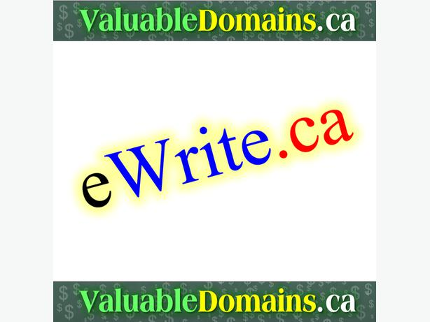 eWrite.ca  - --> Domain For $ALE
