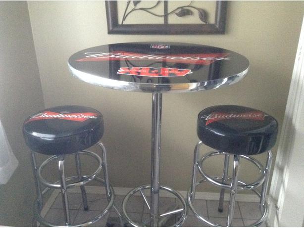 Budweiser table and bar stools duncan cowichan budweiser table and bar stools watchthetrailerfo