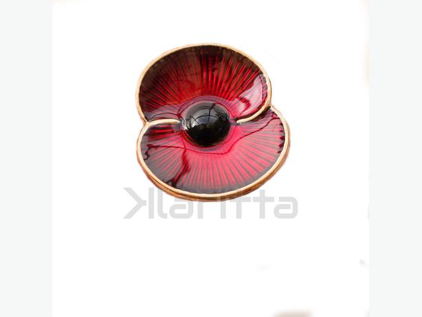 Red Poppy Flower Brooch or Poppy Pin