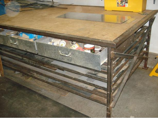 Sheet Metal // Work Benches, Very H.D.  &  Sturdy.