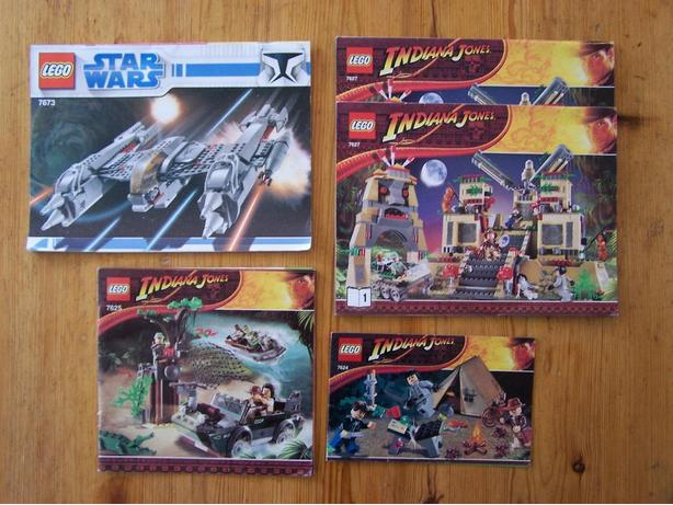 Lego Indiana Jones And Star Wars Instruction Bookets Central Saanich