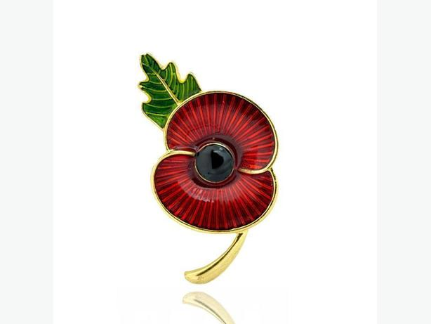 Gorgeous Brooch - Red Poppy Flower Pin