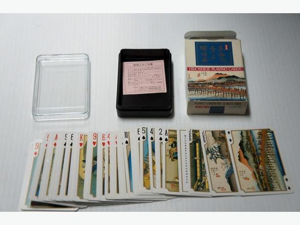 Hiroshige Deck of Playing Cards Vintage Japanese Souvenir