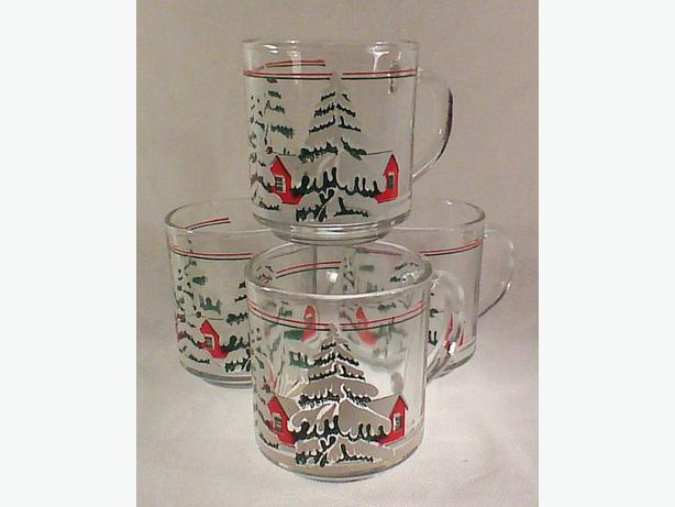 Christmas glass mug set