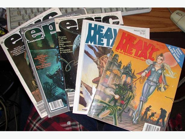 Heavy Metal and Epic Illustrated Magazine/Comic x 5