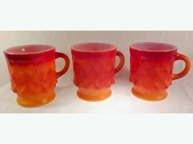 Fire-King Kimberly mugs