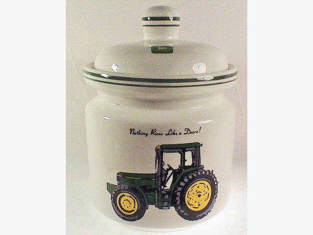 John Deere cookie jar