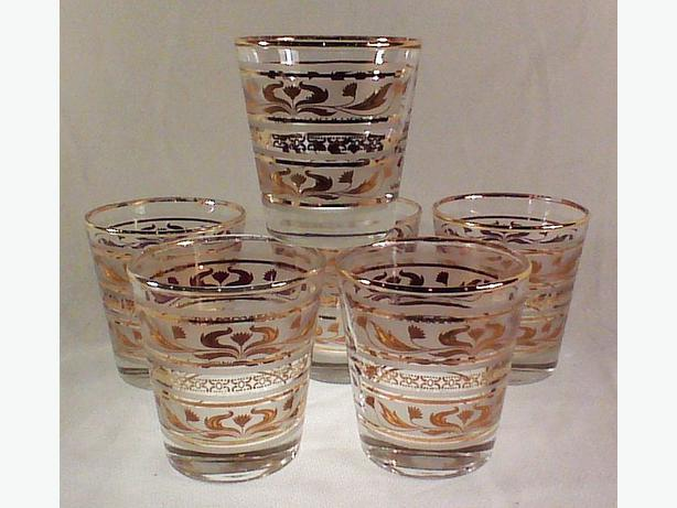 Dominion thistle whiskey glasses