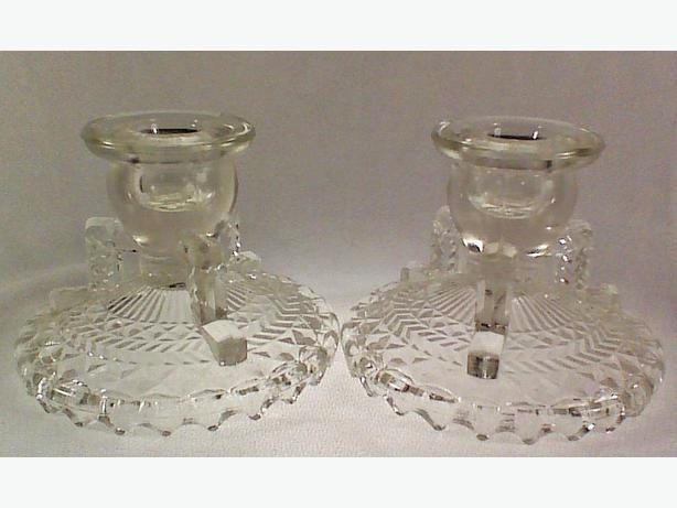 Anchor Hocking candleholders