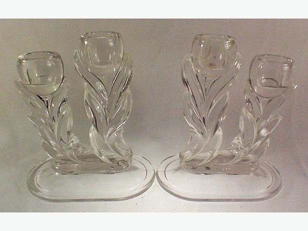 Tulip candleholders double-light