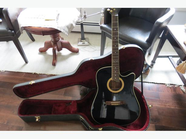bc rich electric acoustic guitar with hardshell case stratford pei. Black Bedroom Furniture Sets. Home Design Ideas