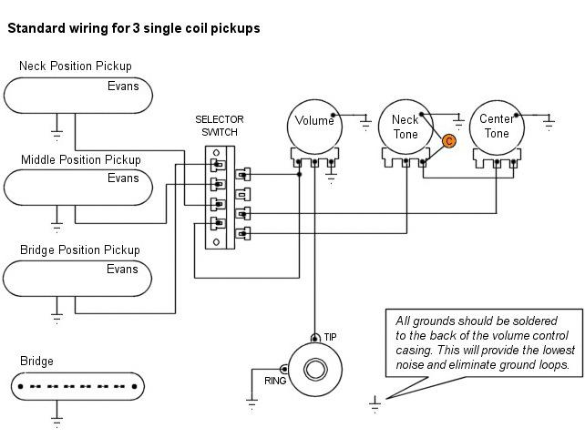 kingston guitar single coil pickup wire diagram   47