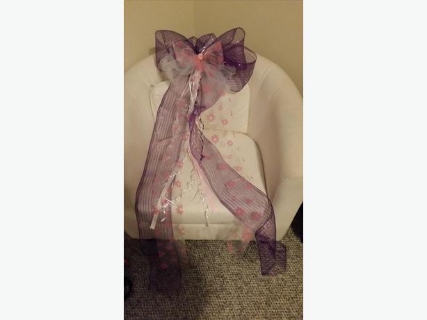 4 large purple bows