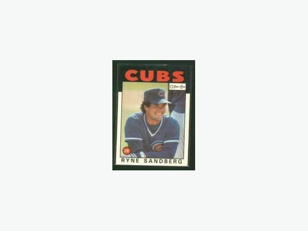 1986 O-Pee-Chee #19 Ryne Sandberg Card Chicago Cubs