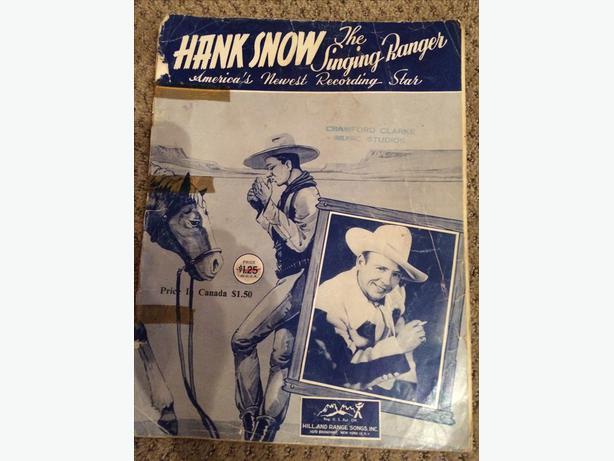 Vintage Hank Snow Music Book