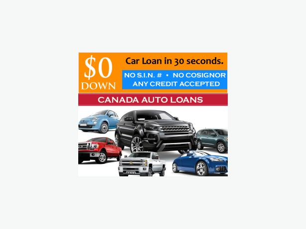 Auto Loans $0 Down - No SIN# - Earn $375/wk APPROVED!