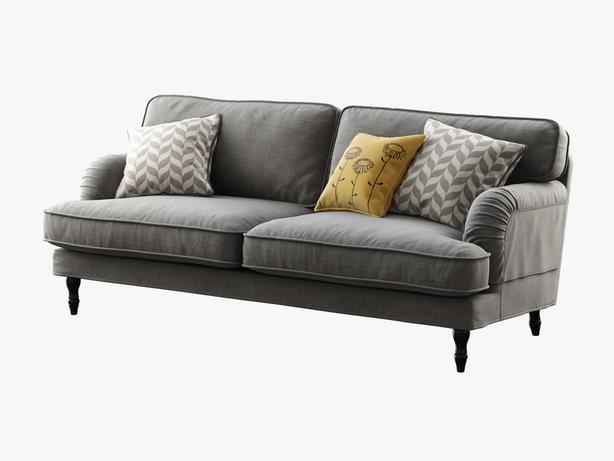 Grey sofa couch black legs central ottawa inside greenbelt ottawa - Bank beige ikea ...