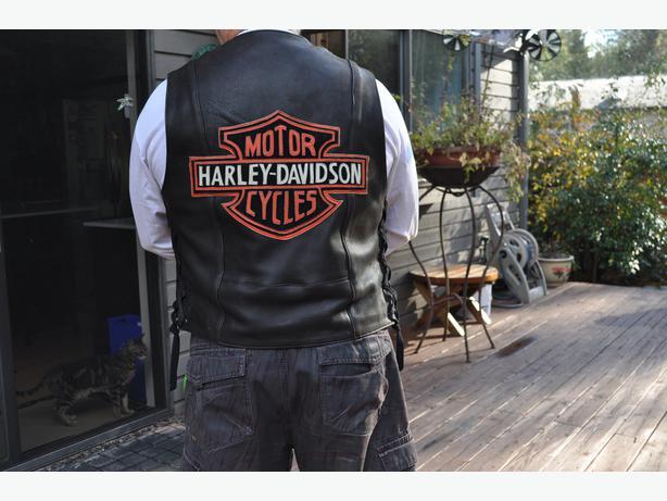 Harley deerskin vest