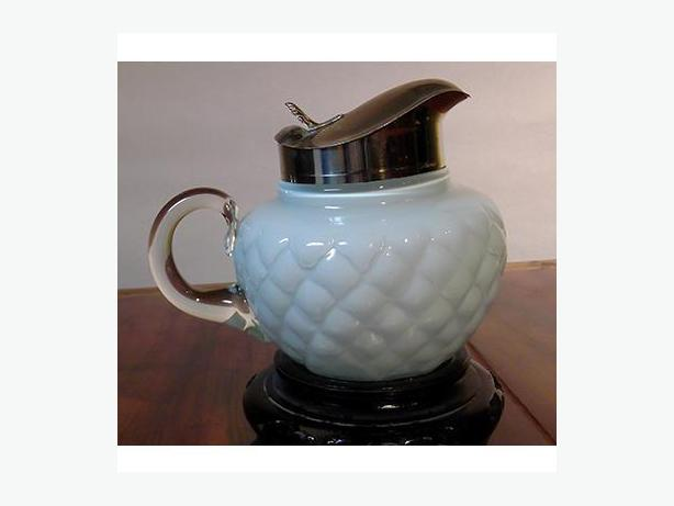Victorian Syrup Pitcher with Spring Lid