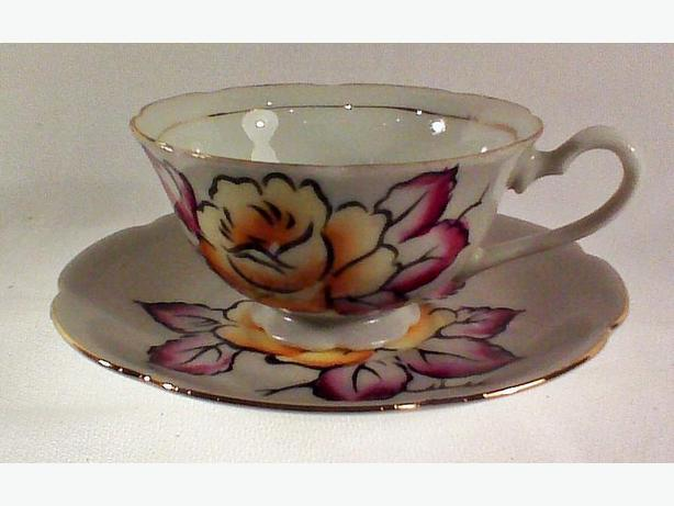 Shafford handpainted teacup & saucer