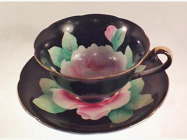 Japanese handpainted teacup & saucer