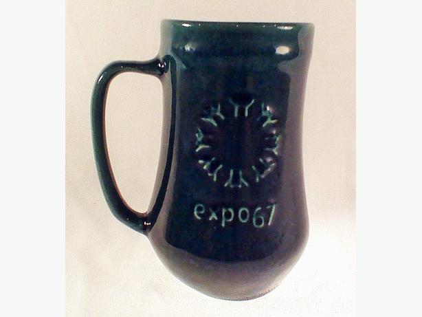 Laurentian Pottery Expo 67 tankard mug